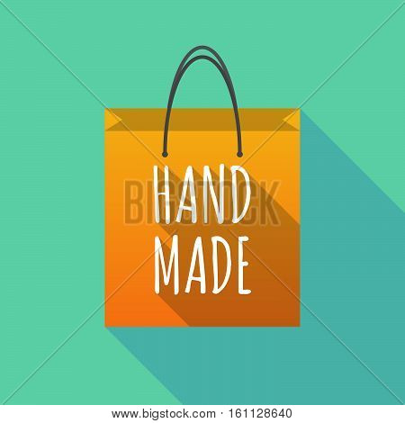 Long Shadow Shopping Bag With    The Text Hand Made