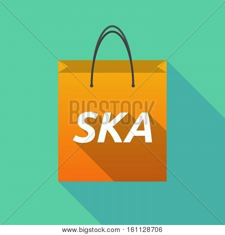 Long Shadow Shopping Bag With    The Text Ska