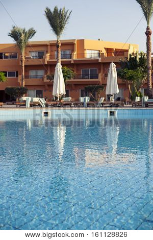 Bar swimming pool sharm el sheikh, Egypt. Hotel, resort, without tourists