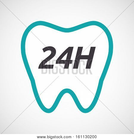 Isolated Tooth With    The Text 24H