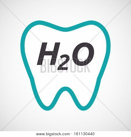 Isolated Tooth With    The Text H2O