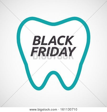 Isolated Tooth With    The Text Black Friday