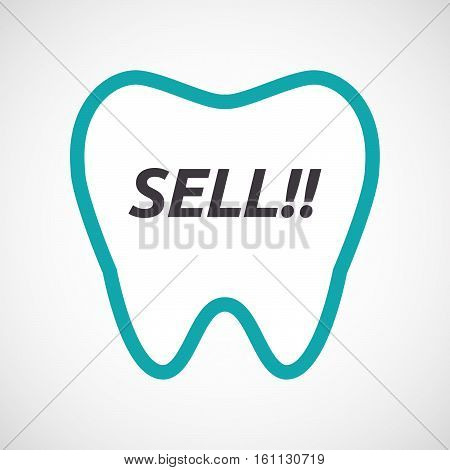 Isolated Tooth With    The Text Sell!!