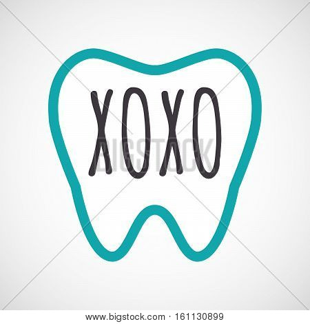 Isolated Tooth With    The Text Xoxo