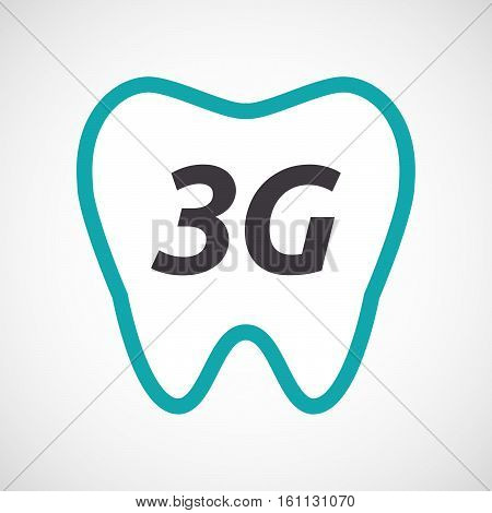 Isolated Tooth With    The Text 3G