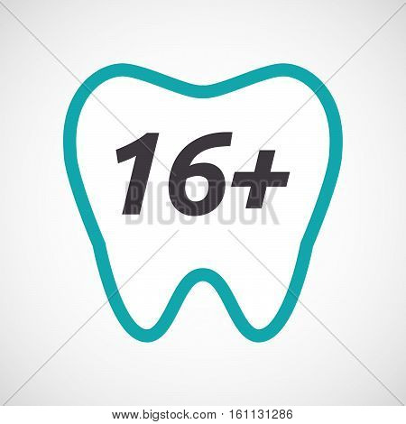 Isolated Tooth With    The Text 16+