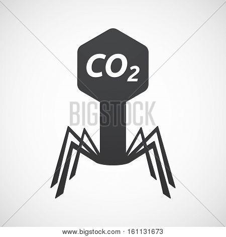 Isolated Virus With    The Text Co2