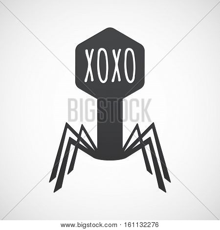 Isolated Virus With    The Text Xoxo