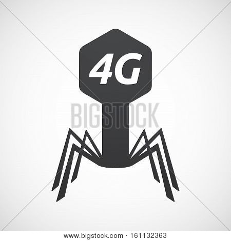 Isolated Virus With    The Text 4G