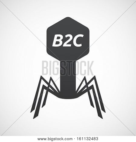 Isolated Virus With    The Text B2C