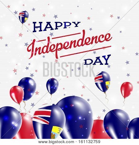 Saint Helena Independence Day Patriotic Design. Balloons In National Colors Of The Country. Happy In