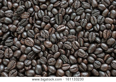 Mixture Of Different Kinds Of Coffee Beans