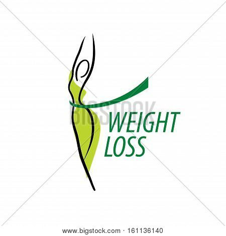 template design logo weight loss. Vector illustration of icon