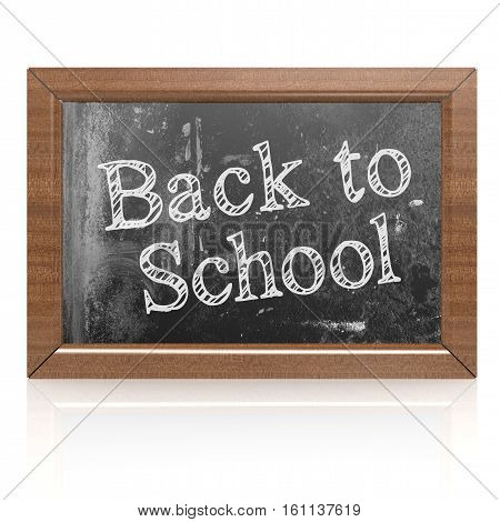 Back To School Word On Blackboard