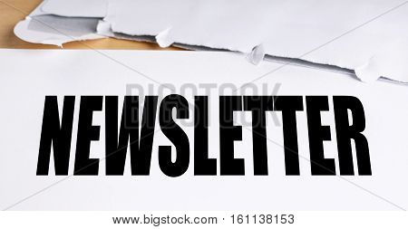 old-fashioned snail mail newsletter with opened envelope