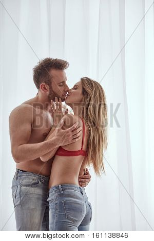 Sexy Topless Man And Woman