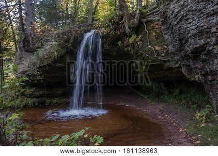 A small but very beautiful Scott falls on the Au Train River, Allegan County, Michigan, USA