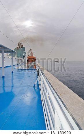 Boat Deck At Sea