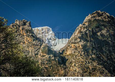 Snowy Top In Peru