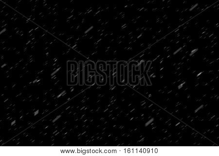 Rain Fall Concept. Falling Raindrops, Wide Angle, On Black Background. Just Change Blending Mode To