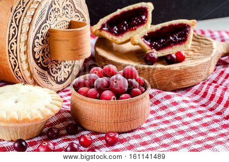 Pies With Berries. Homemade Pastries.