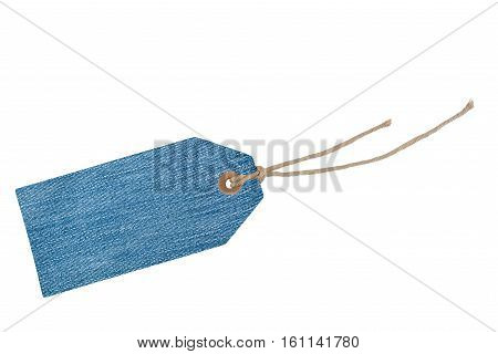 Etiquette with cord isolated on white background