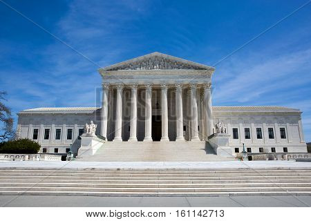 Supreme Court building in the United States of America is located in Washington D.C. USA.