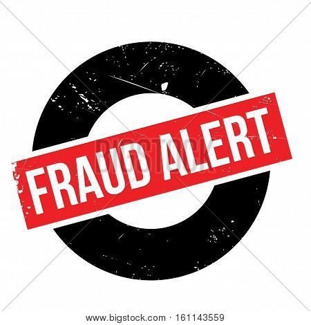 Fraud alert rubber stamp. Grunge design with dust scratches. Effects can be easily removed for a clean, crisp look. Color is easily changed.