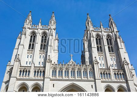 Washington National Cathedral is located in Washington D.C. USA.