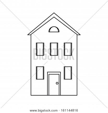 real state house floor line vector illustration eps 10