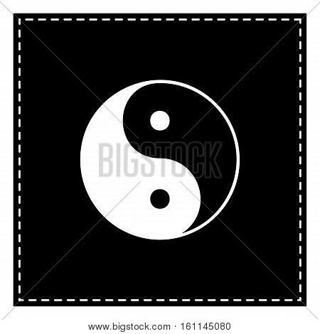 Ying Yang Symbol Of Harmony And Balance. Black Patch On White Ba