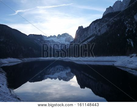 beautiful gosausee lake in salzkammergut in austria
