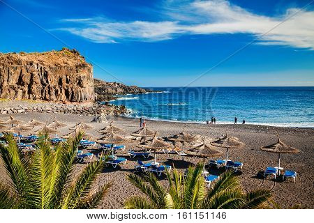 small beach in the village Callao Salvaje in Tenerife Canary Islands Spain