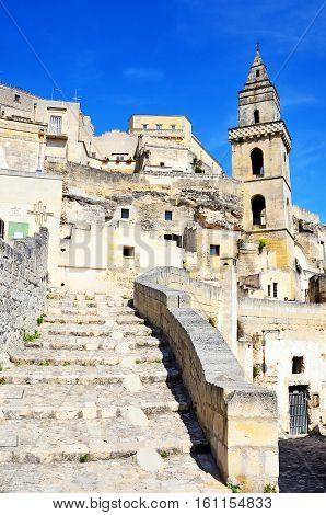MATERA ITALY- 20 AUGUST 2016 -the stones of Matera, European capital of culture 2019- August 20 2016 Matera, Italy