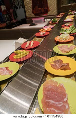 Shabu Japanese Conveyor belt sushi or belt buffet