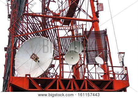 Communications tower cellular telephony, radio and television
