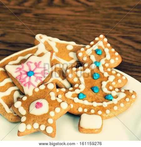 Christmas Sweets. Traditional Homemade Handmade Czech Sweets - Gingerbreads.