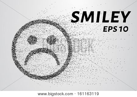 Smiley Of The Particles. A Smiley Face Is Composed Of Circles And Dots. Vector Illustration