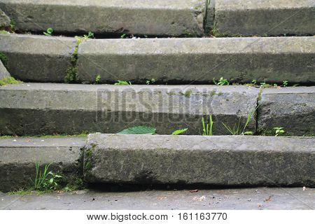 Old amazing stairs from stones, rocks background
