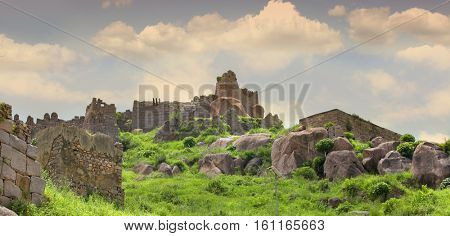 Historic Golconda fort in Hyderabad India