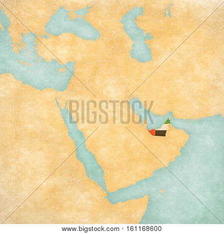 Map Of Middle East - United Arab Emirates
