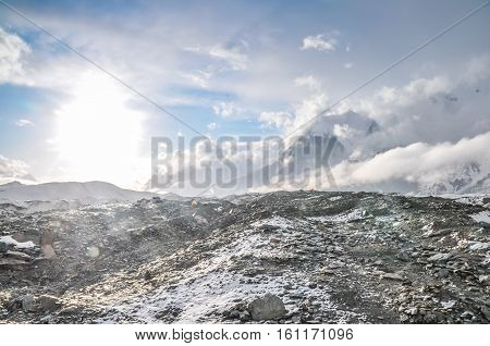 Rocky Terrain And Fog