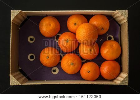 Crate Of Clementine Oranges, From Above