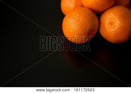 Clementine Oranges, Off Top Right Corner, With Large Copy Space
