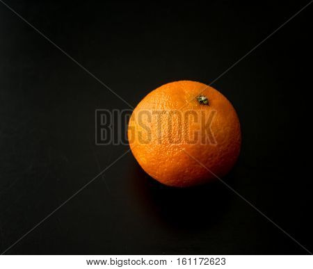 A Single Clementine Orange, From Side