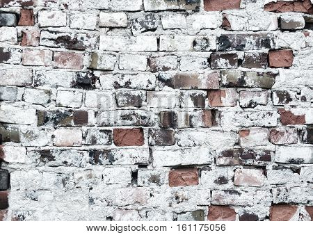 Old rustick brickwall background with different bricks