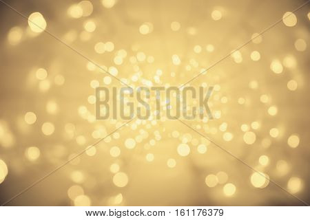 Abstract Light Background Vanishing Point Perspective Blurred Lighting Particles Sparkles