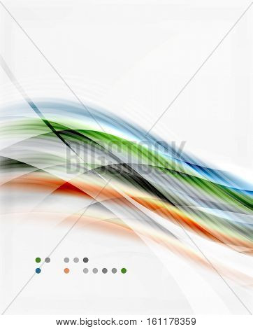 Modern hi-tech glossy glass wave, background