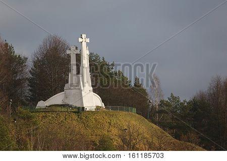 Three crosses hill in Vilnius
