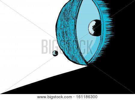 Cross Section Of Atom With Shadow